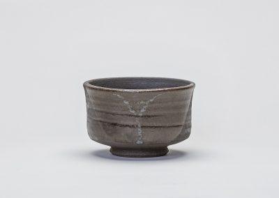 Tea Bowl Black Vulcan Dipped